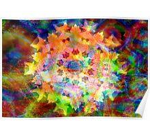 Celestial flower mandala Poster