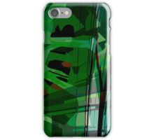 Greeny leafy graphic design iPhone Case/Skin