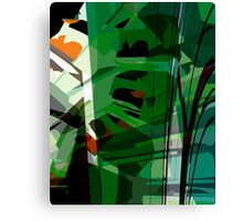 Greeny leafy graphic design Canvas Print