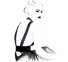 Dramatic in YSL Photographic Print