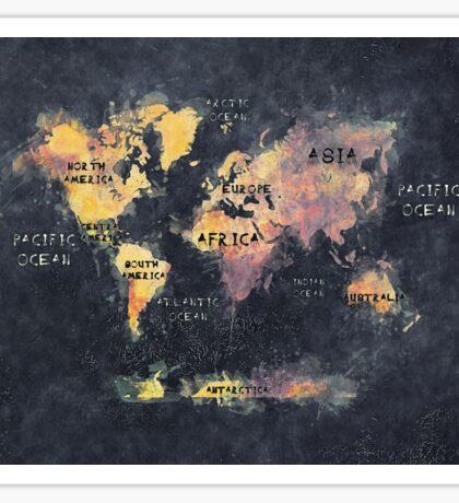world map 12 Sticker