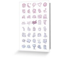 Tourist Icons Greeting Card