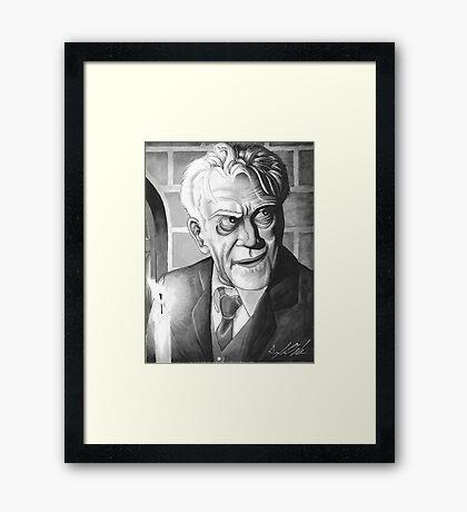 Boris Karloff, Classic Gentleman Framed Print