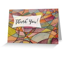 Thank You Card with Multicolored Abstract Background Greeting Card