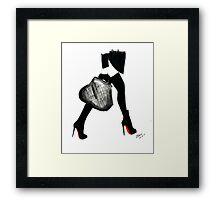 I Love Louboutin Framed Print