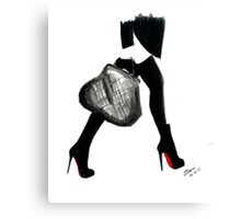 I Love Louboutin Canvas Print