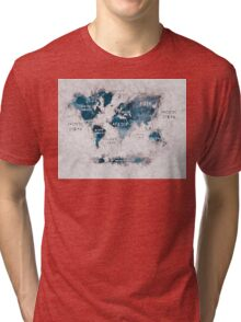 world map 13 Tri-blend T-Shirt