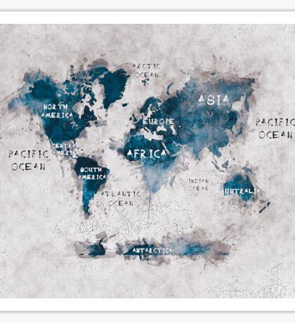 world map 13 Sticker