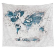 world map 13 Wall Tapestry
