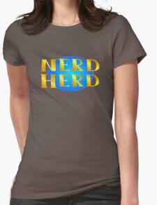 Nerd herd logo Womens Fitted T-Shirt