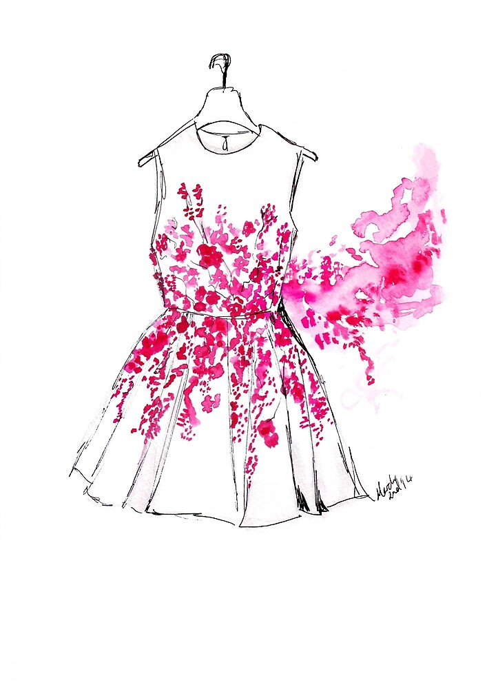 Cherry Blossom Dress by FallintoLondon