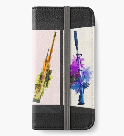 CS:GO Watercolor weapons v2 iPhone Wallet/Case/Skin