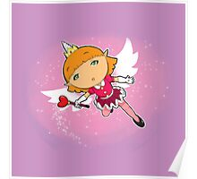 Unicorn Bird Fairy Elf Princess Poster