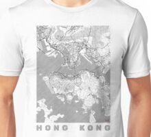 Hong Kong Map Line Unisex T-Shirt