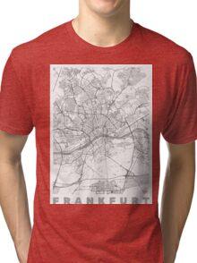 Frankfurt Map Line Tri-blend T-Shirt