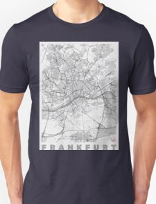 Frankfurt Map Line Unisex T-Shirt