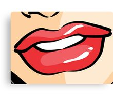 Woman Mouth Canvas Print