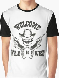 Welcome to Wild West Emblem Graphic T-Shirt