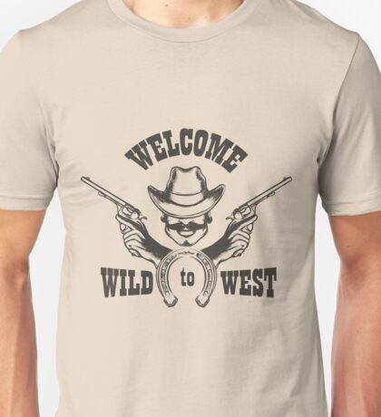 Welcome to Wild West Emblem Unisex T-Shirt