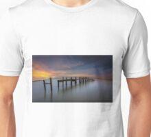Wooden Pier Sunset Unisex T-Shirt