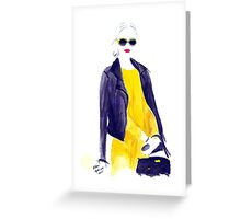 That Canary Dress Greeting Card