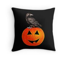 The Crow And The Pumpkin Throw Pillow