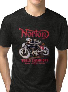 NORTON TT MOTORCYLE RETRO VINTAGE Tri-blend T-Shirt