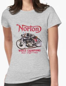 NORTON TT MOTORCYLE RETRO VINTAGE Womens Fitted T-Shirt