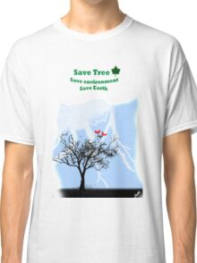 World with tree Classic T-Shirt