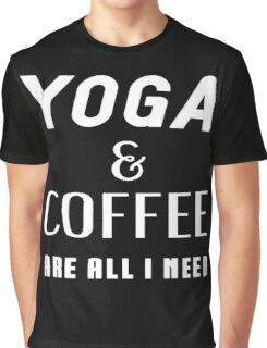 Yoga And Coffee Graphic T-Shirt