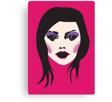 Bringing it all to the table - Hot Retro Pink Pop Art Girl Canvas Print