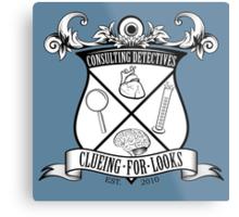 Sherlock's School of Clueing Metal Print