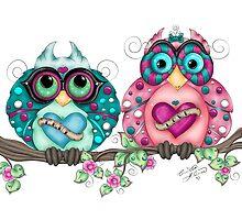 Spring Fling Owl Pair by Concetta Kilmer
