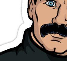 Archer With Mustache Sticker