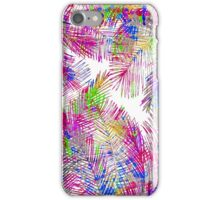 Modern pink purple hand painted watercolor palm trees iPhone Case/Skin