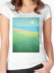 I Can See The Beach Women's Fitted Scoop T-Shirt
