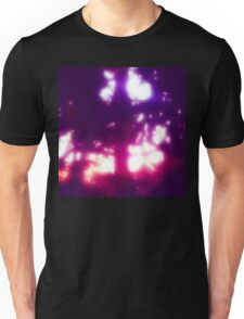 Fuchsia Sunset Between Tree Leaves Unisex T-Shirt