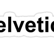 Arial helvetica Sticker