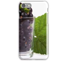 a glass of blackcurrant iPhone Case/Skin
