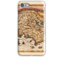 Map Of Tuscany 1650 iPhone Case/Skin