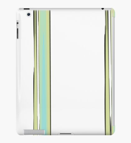 Uneven Lines in Blue, Green, and White iPad Case/Skin