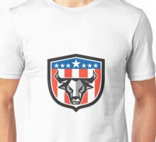 Bull Cow Head USA Flag Crest Low Polygon Unisex T-Shirt