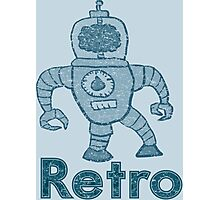 Retro Robot  Photographic Print