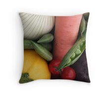 Self Assembly Vegetable Soup Kit Throw Pillow
