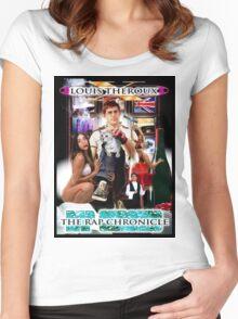 LOUIS THEROUX GANGSTA RAP ALBUM COVER WEIRD WEEKENDS Women's Fitted Scoop T-Shirt