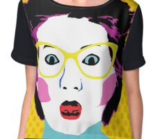 Lee Lin Chin for PM Pop Art Chiffon Top