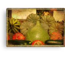 Vegetable Harvest Canvas Print