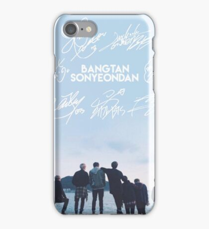 BTS Signature light blue Edit iPhone Case/Skin