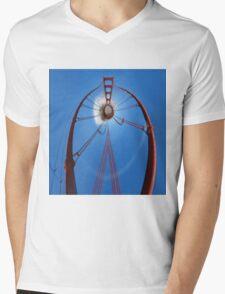 Curvy Golden Gate Bridge Mens V-Neck T-Shirt