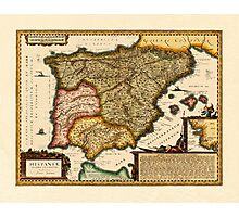 Map Of Spain 1650 Photographic Print